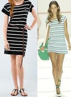 vestidos a rayas primavera verano 2012