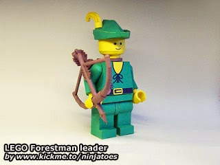 LEGO Papercraft Forestmen leader
