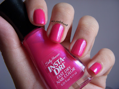 Sally Hansen Insta-Dri Flashy Fuchsia swatches