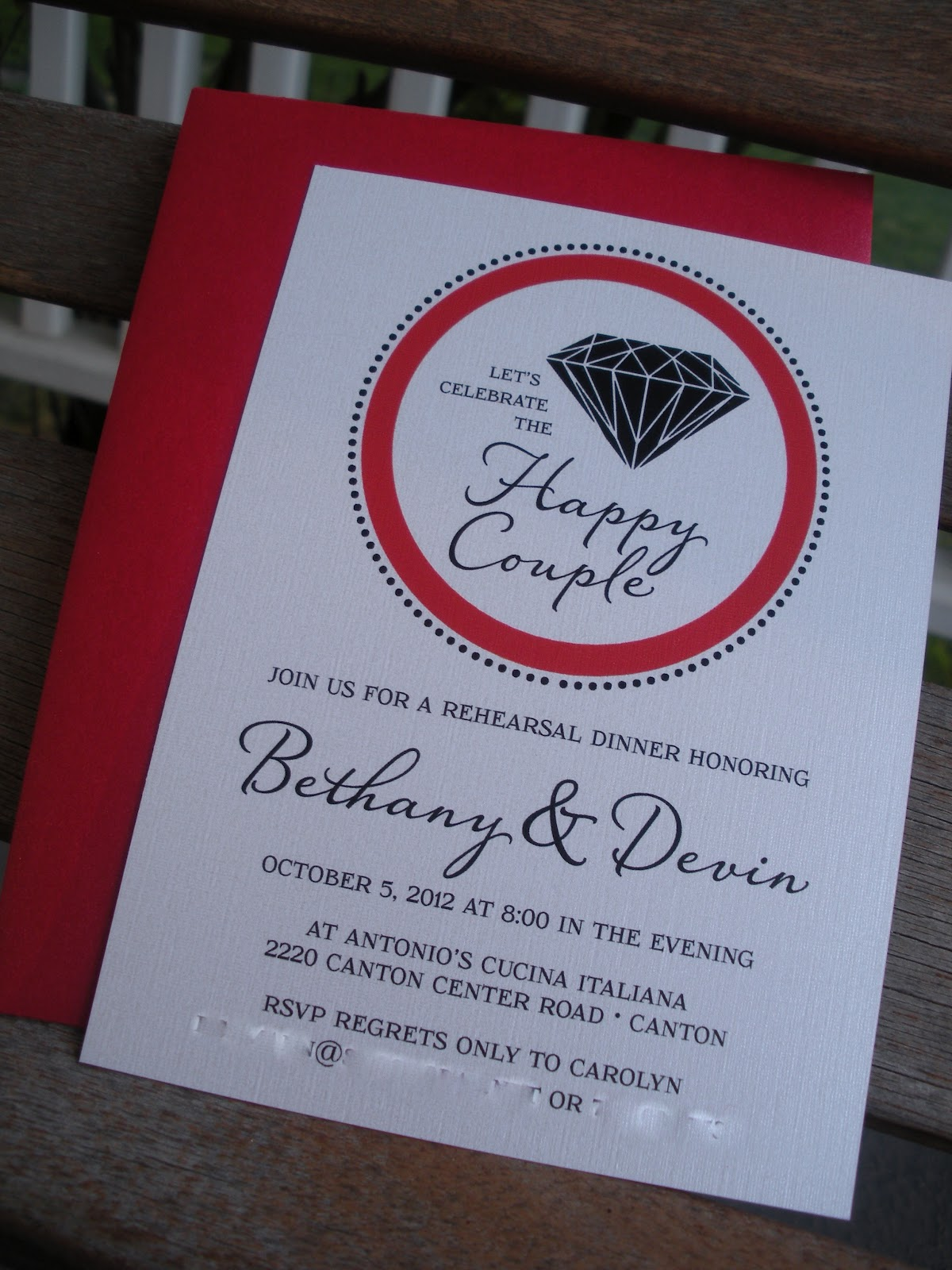 Vivian Elle Invitations: Bethany\'s Bachelorette Party and Rehearsal ...