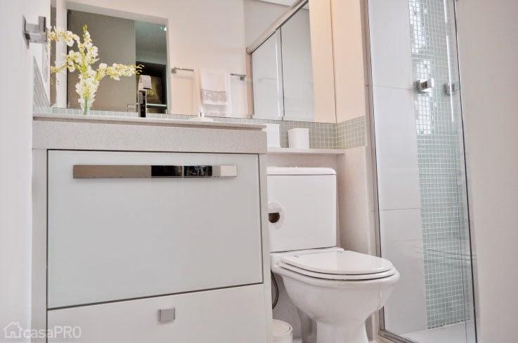 InMaterial Banheiros pequenos e inspiradores -> Banheiro Pequeno Assim Eu Gosto