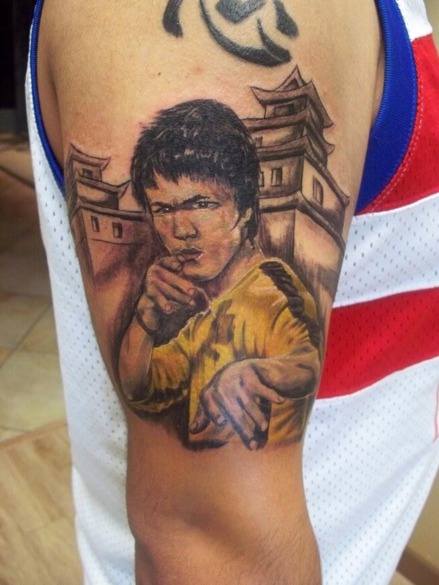 Bruce Lee Arm Tattoo WeSharePics