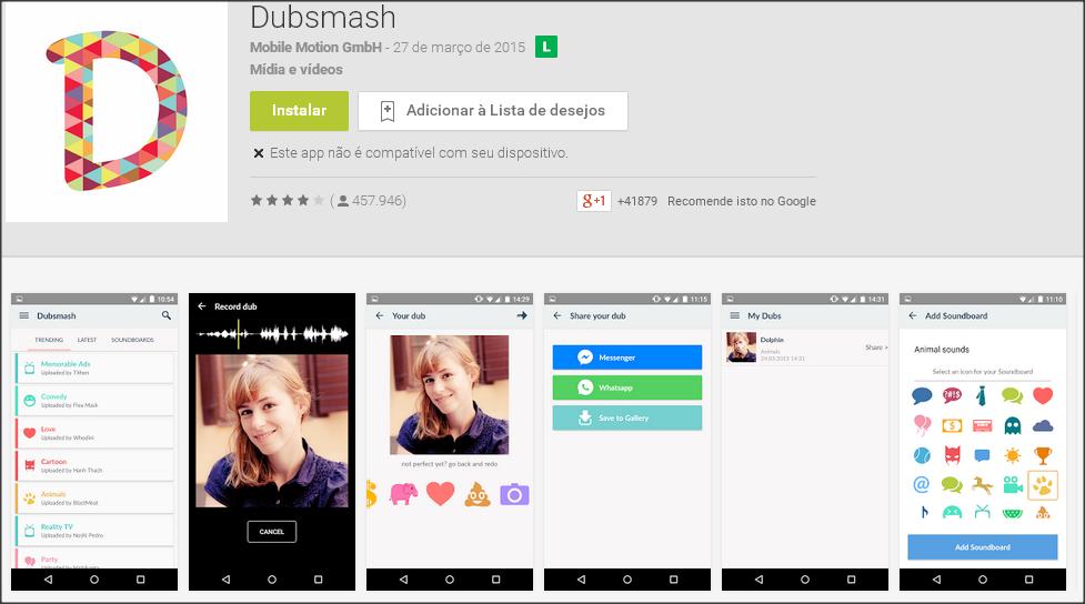 aplicativo Dubsmash , pitacos de lua, dicas