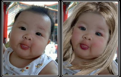 Foto, Seandainya Bayi-bayi Bisa Berdandan [ www.BlogApaAja.com ]