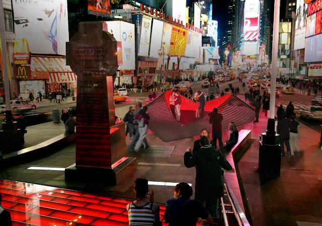 El corazón Heartwalk de Times Square