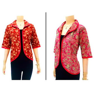 DBT2635 Model Baju Blouse Batik Modern Terbaru 2013