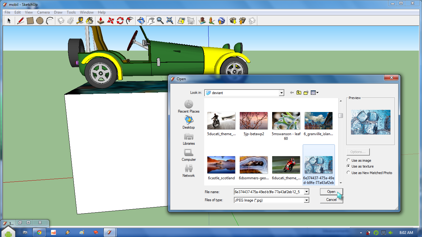 Cadel blog import texture object pada google sketchup for Sketchup import