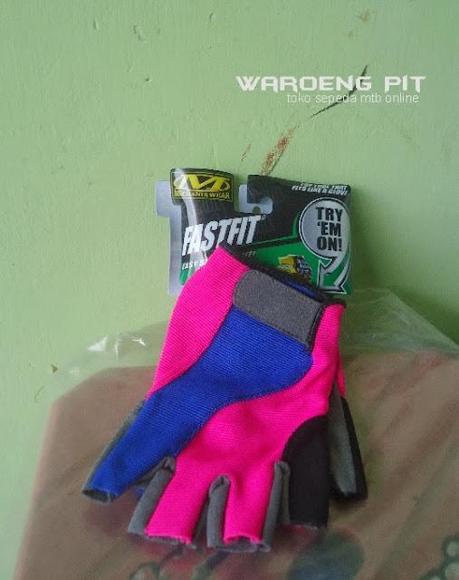 Jual sarung Kaos tangan fastfit biru pink sepeda mtb bmx gunung murah