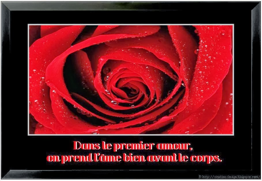 Citation sur le premier amour en image