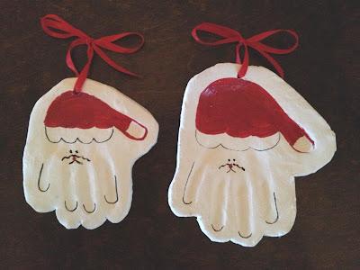 Handprint santas 2