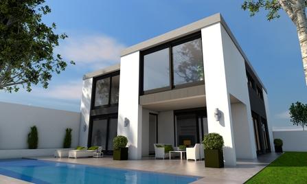 Pinturas ba os pintar una fachada - Fachadas exteriores de casas ...
