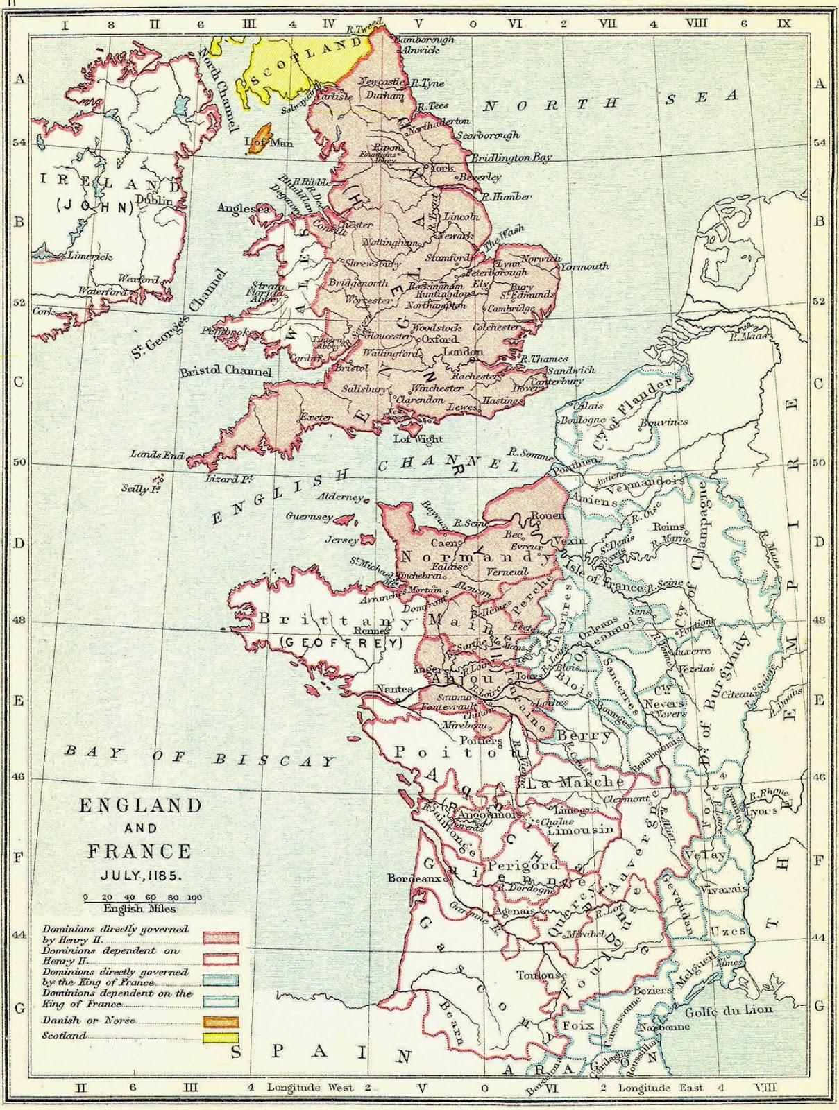 the angevin empire England went to pot and his vast empire embracing england, ireland and half of  france lost its centre of authority and became restless, setting the scene for the.