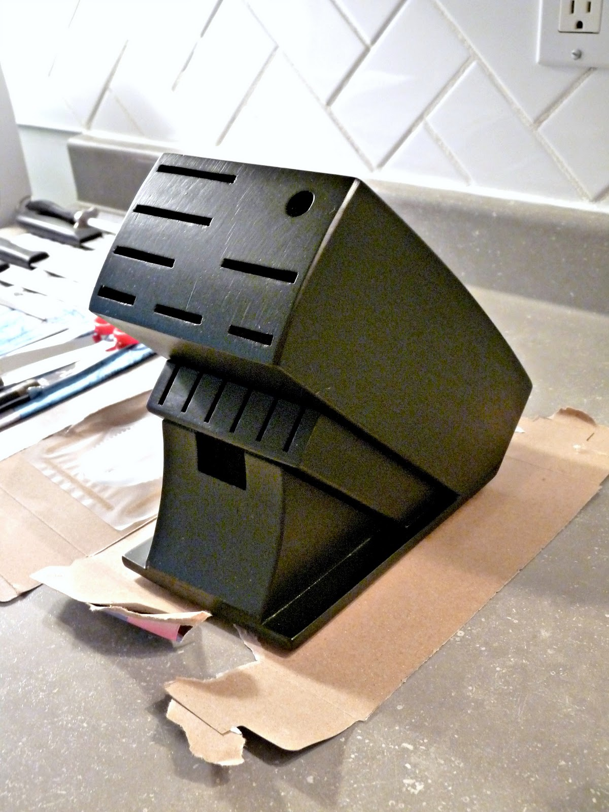 Chalkboard Knife Block