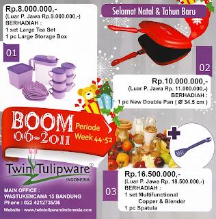 BOOM Tulipware | Nopember - Desember 2011