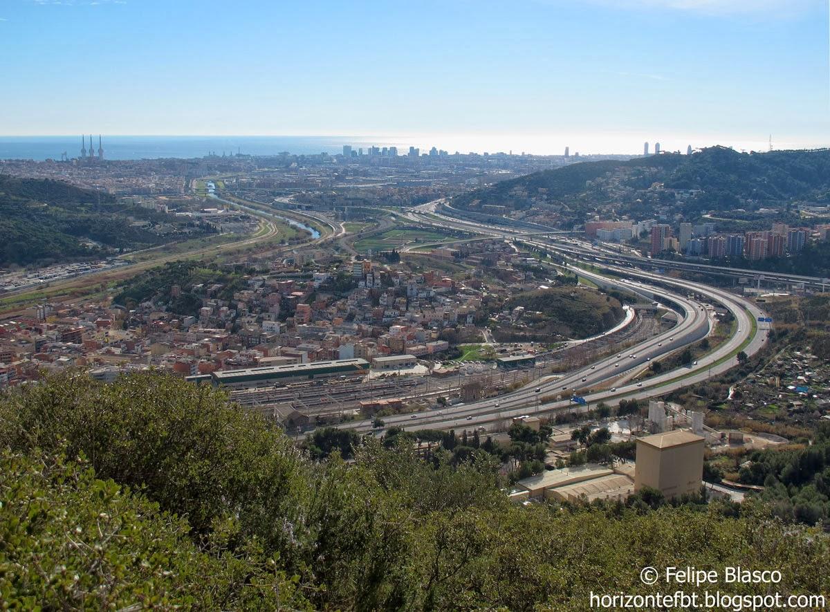 Acceso a Barcelona desde el Vallés