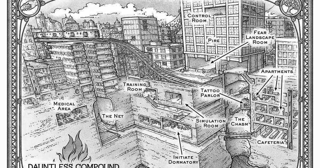 Book Stuff: Divergent - Dauntless Compound Map on