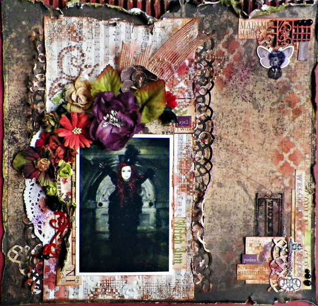 Layout by Lisa Novogrodski for Scraps of Darkness with the BonAppetit Kit
