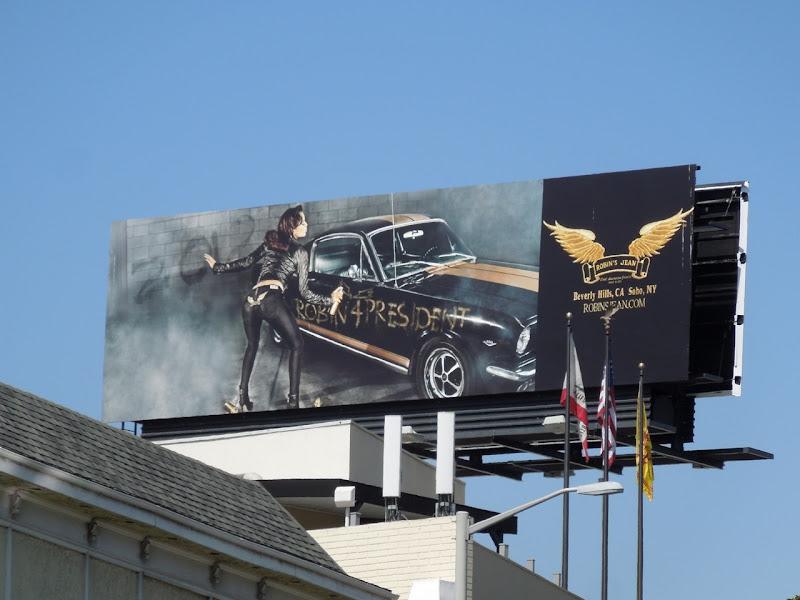 Robin Jeans President billboard