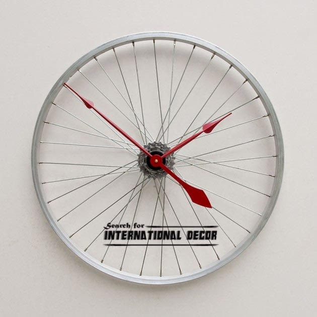 diy wall clock, cool wall clocks,creative wall clocks,wheel clock