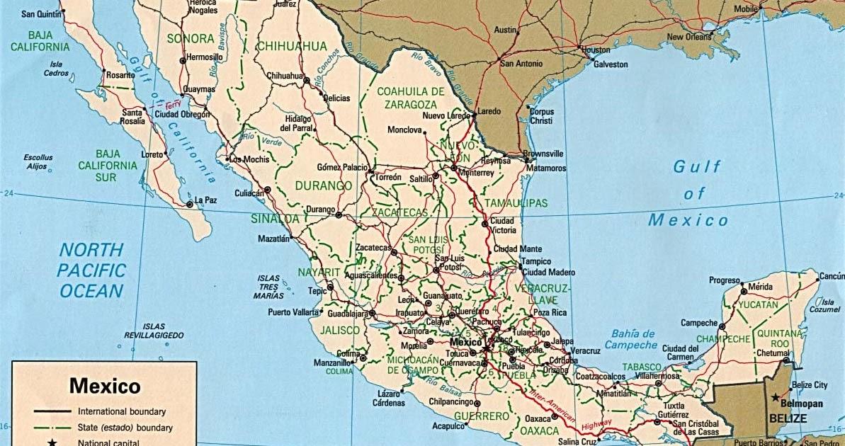 Mapa de la Rep blica Mexicana