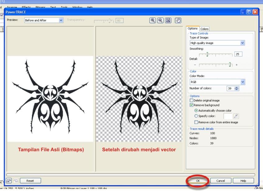 Langkah Mudah Merubah File Format JPG Menjadi Vector   Tutorial ...