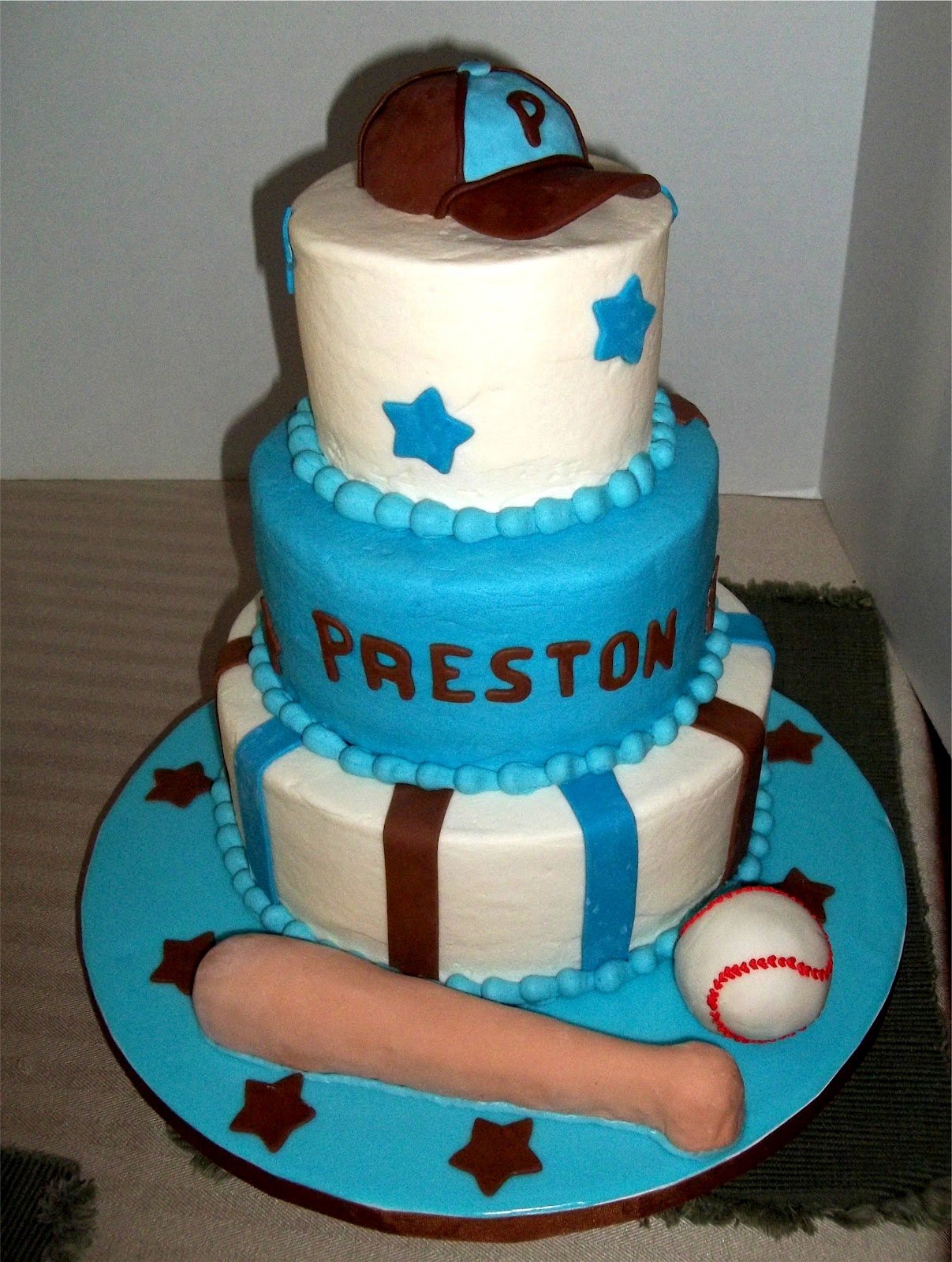 Bobbies Cakes and Cookies A Baseball Baby Shower