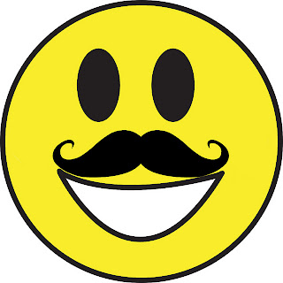 Smileys with mustache smiley symbol