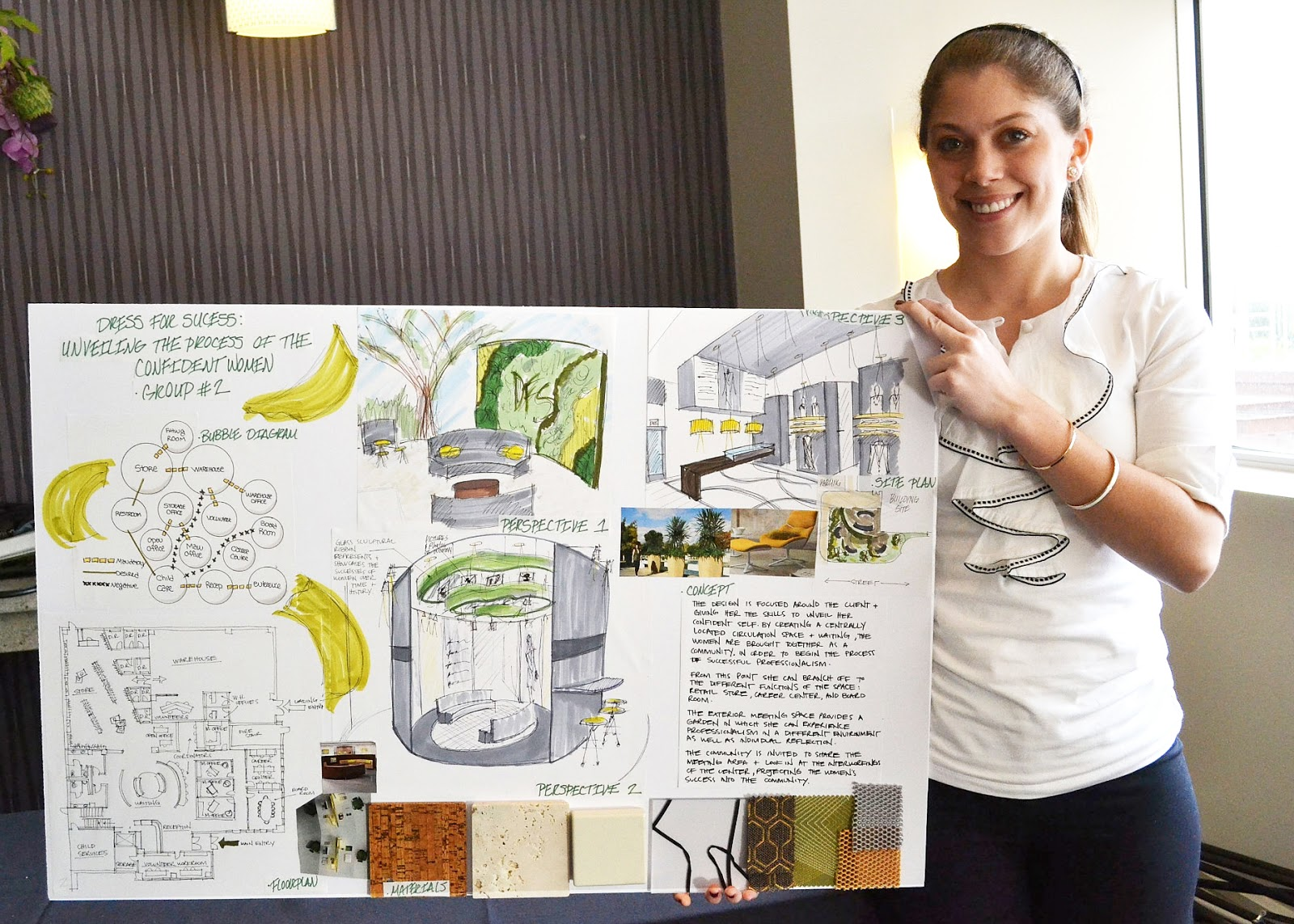 unt interior design student winners at iida student conference
