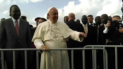 pope visits Kenya africa