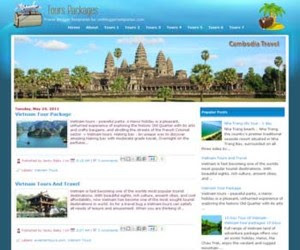 Tours Packages Blogger Template