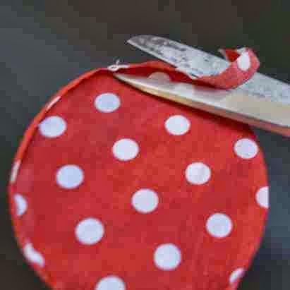 artesanato com tecido poá