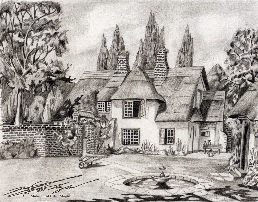 Home cottage design perfect sketch of your dream house for House sketches from photos