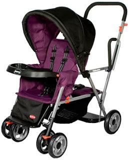 Joovy Caboose Ultralight Stand-On Tandem Stroller - Blueberry