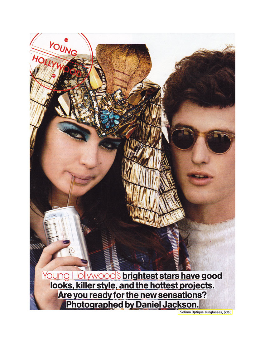 Our Diego Frames in Teen Vogue, October 2011