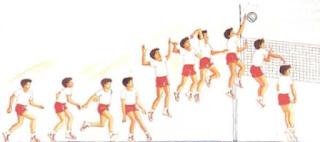 Táticas individuais da cortada do Voleibol