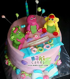 Barney Cakes for Children's Parties