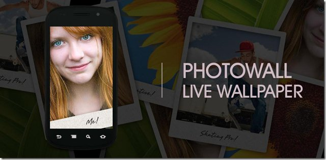 PhotoWall Live Wallpaper Get Amazed With Your Android