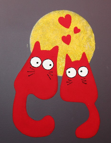 Рисунки яркие коты