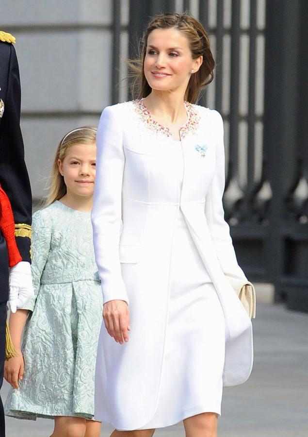 Peinado trenzado de la Reina Letizia
