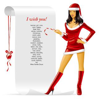 クリスマスを彩る女性のテキスト ボード people christmas girl vector イラスト素材1