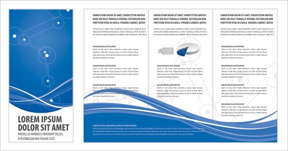 Blue Brochure Cdr Vector