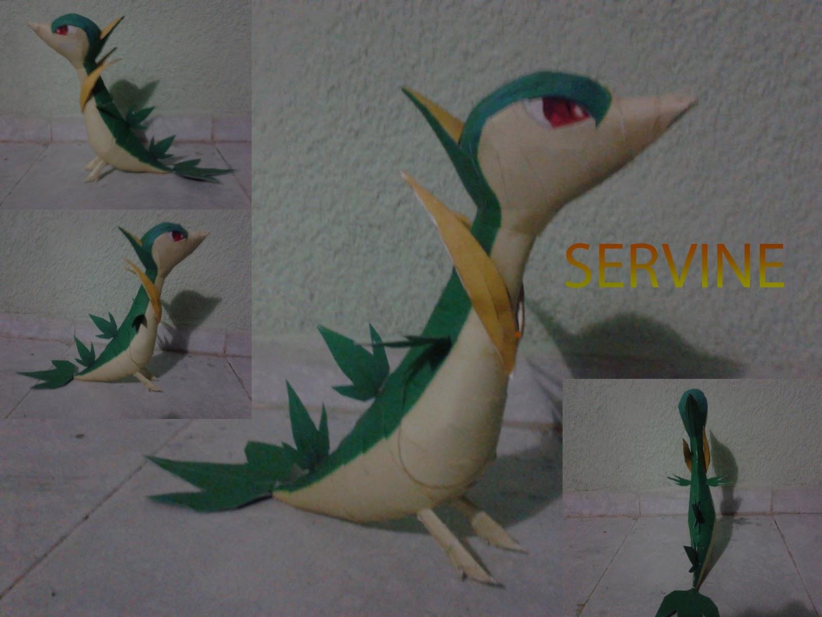 Pokemon Servine Papercraft