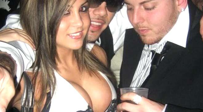 Staring at boobs