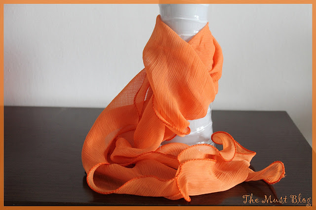 long orange scarf