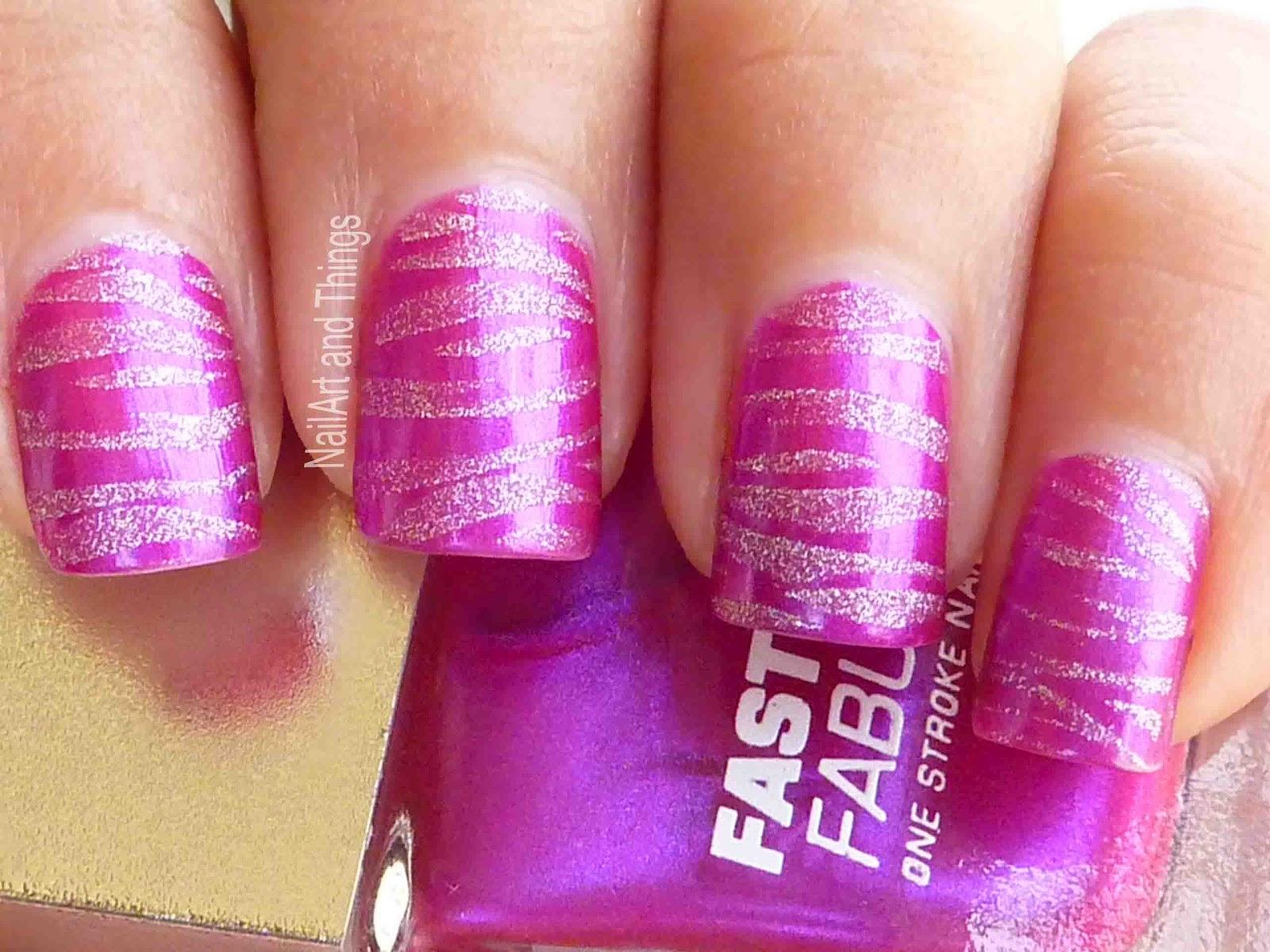 Nailart And Things Pink Zebra Lakme Nail Polish Purple Fix