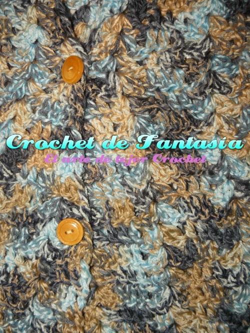Crochet, ganchillo, tejido, lana matizada, dama, chaleco, puntada