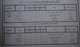 جداول امتحانات كفر الشيخ ترم أول 2016 تفصيلية المنهاج المصري 10599126_10207643722