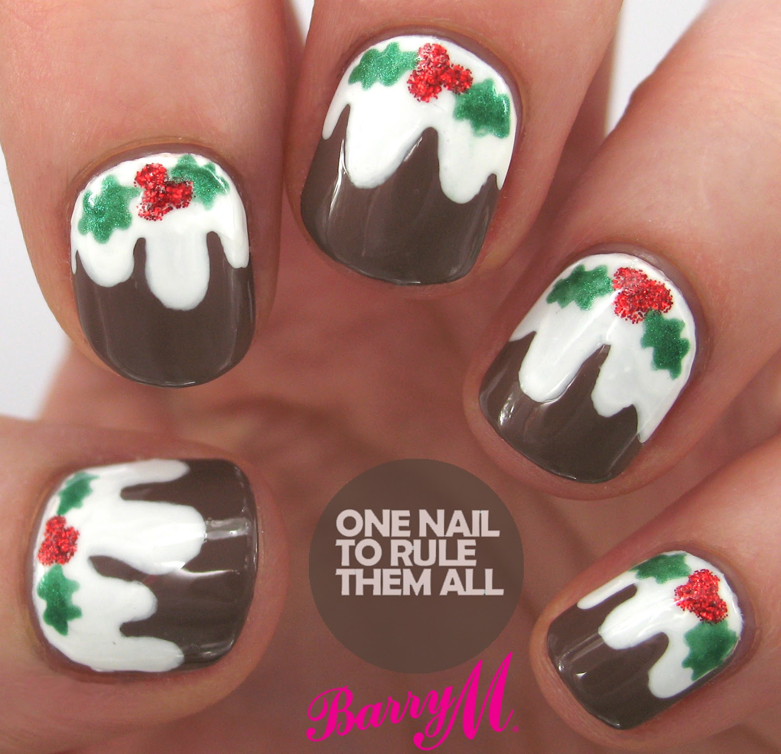Christmas Nail Designs Tutorial: One Nail To Rule Them All: Tutorial Tuesday: Christmas Pudding