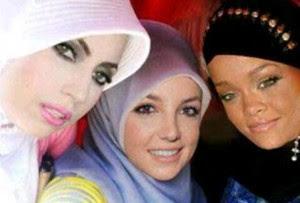 Lady Gaga Berjilbab