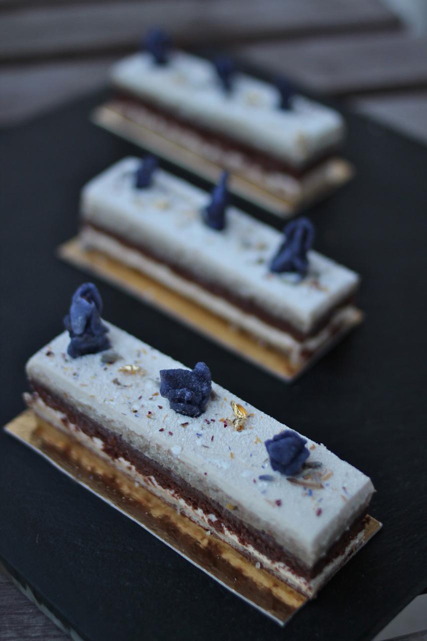 My Lavender & Earl Grey Opera Cake